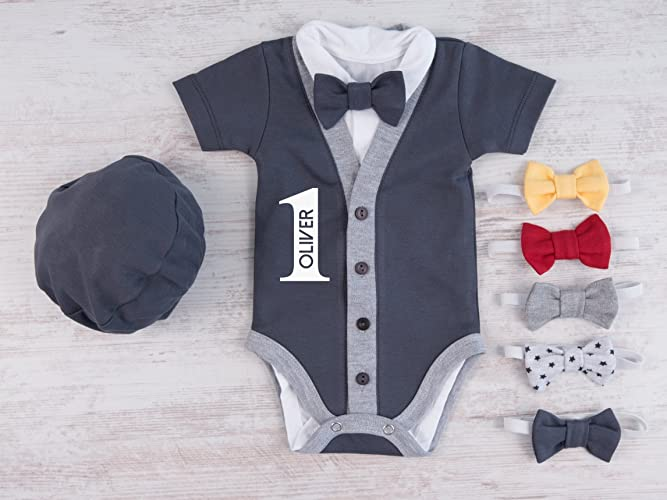 1st Birthday Outfit Boy Set Of 4