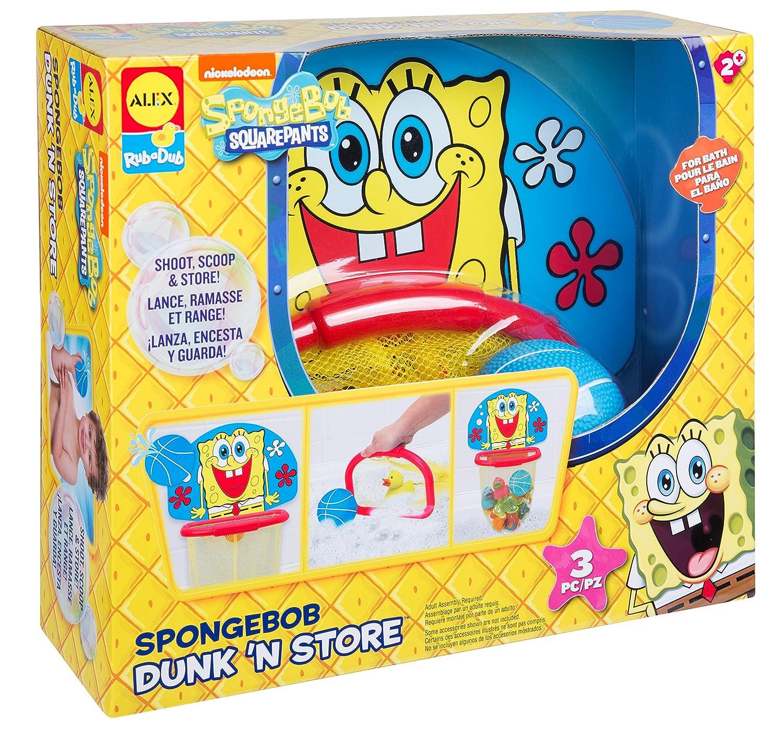 SpongeBob Dunk N Store Bath Toy: Amazon.es: Juguetes y juegos
