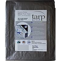 Kotap TRS-3040 - Lona de poliéster resistente con bloqueo UV (14 x 14, 10 mm x 40 pies), color plateado