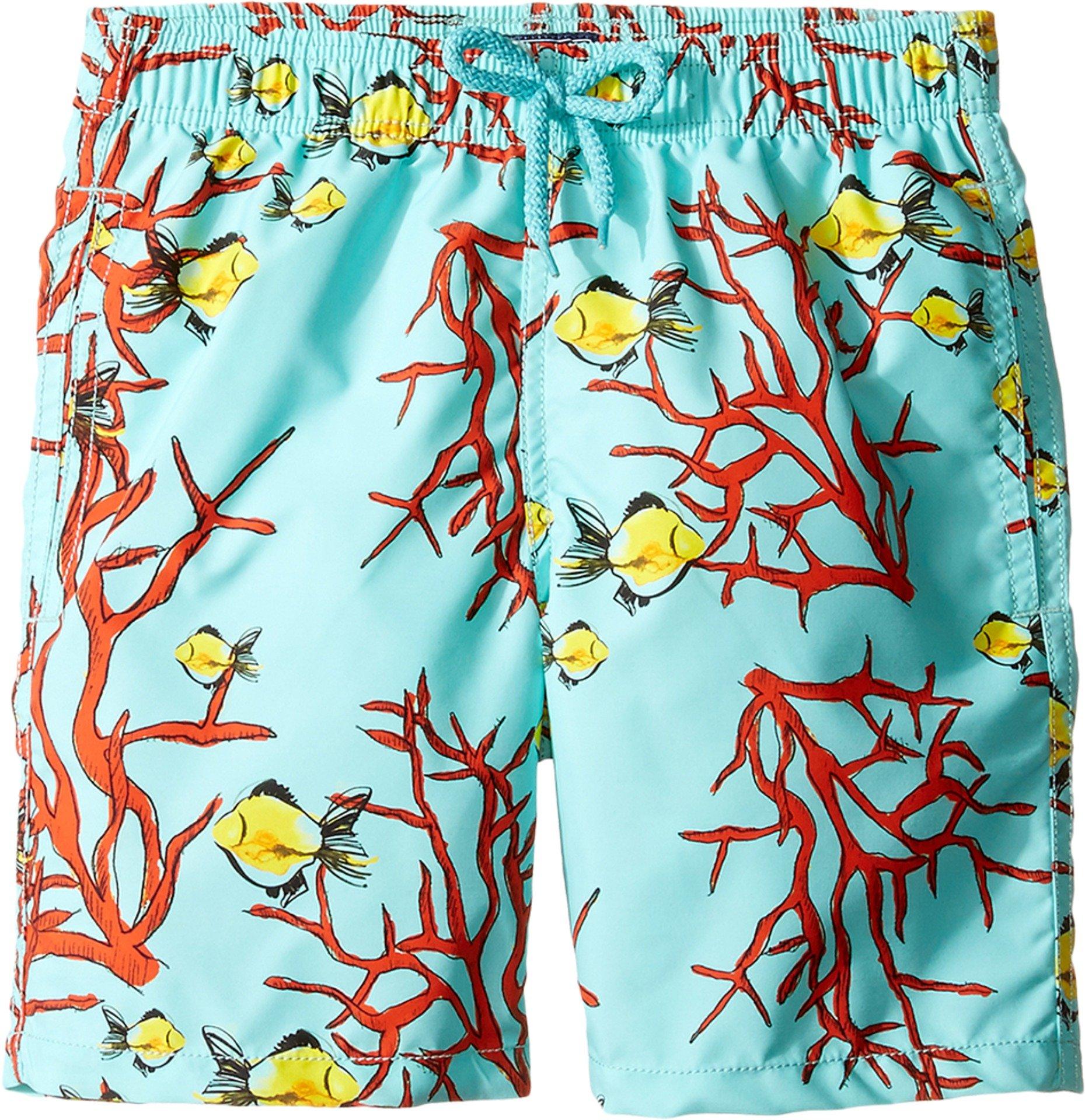 Vilebrequin Kids Boy's Coral and Fish Swim Bottom (Big Kids) Blue Swimsuit Bottoms