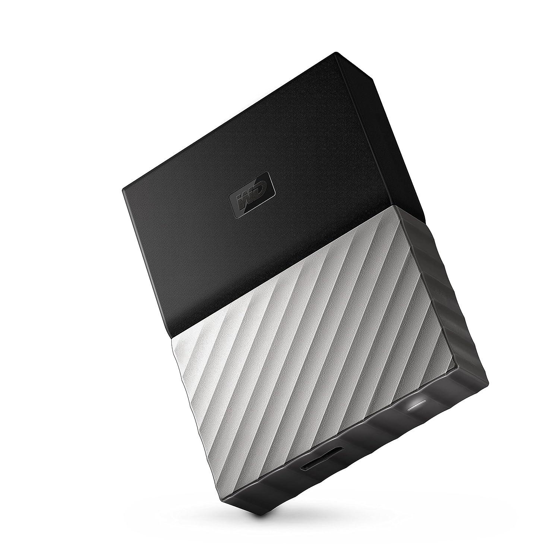 Western Digital My Passport - Disco Duro portátil y Software de Copia de Seguridad automática para PC, Xbox One y Playstation 4, Acabado metálico, ...