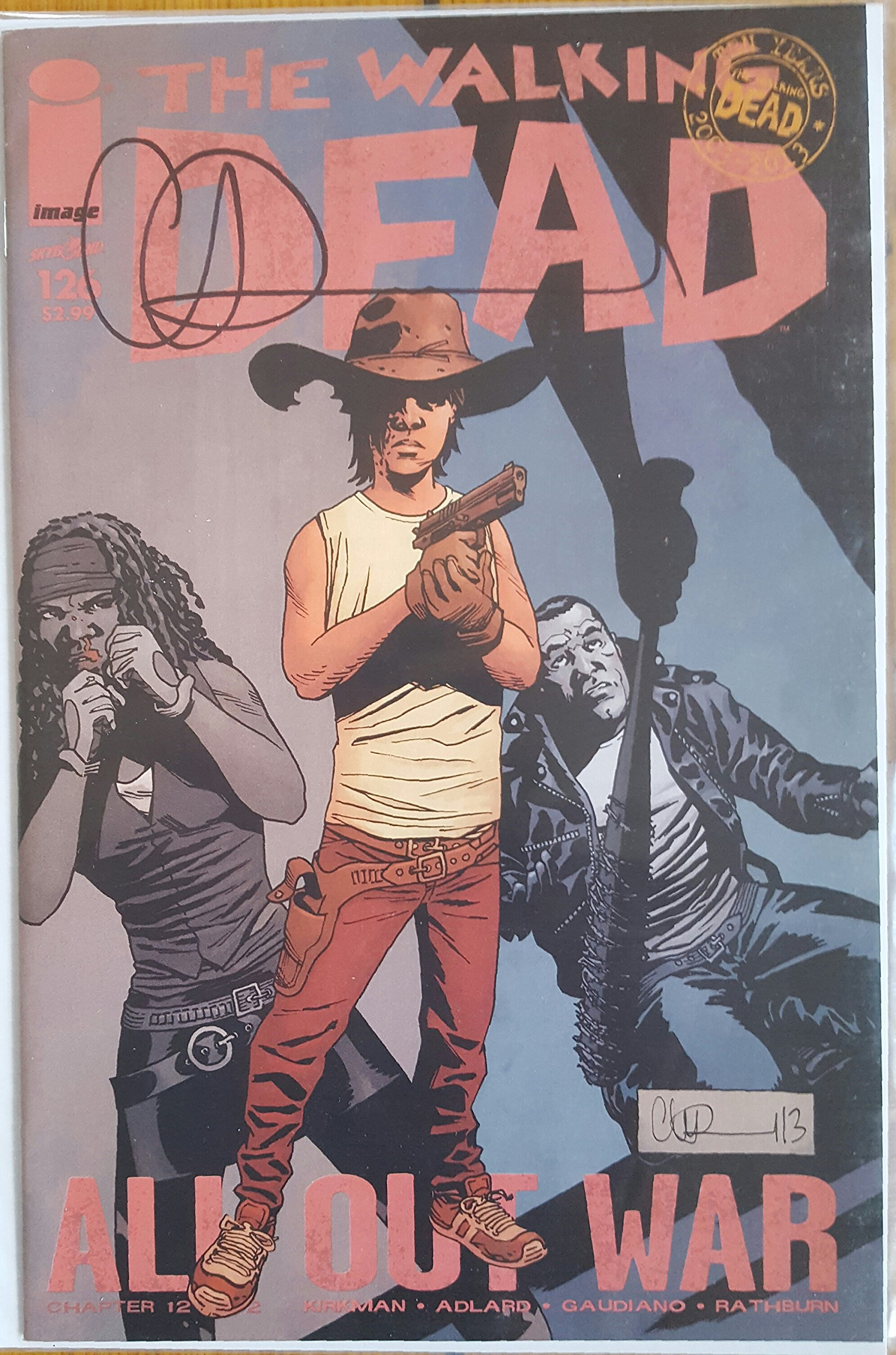 The Walking Dead (2013 Image Comics) Issue #126 NM/NM+ Signed by Artist Charlie Adlard with Certificate of Authenticity (COA) pdf epub