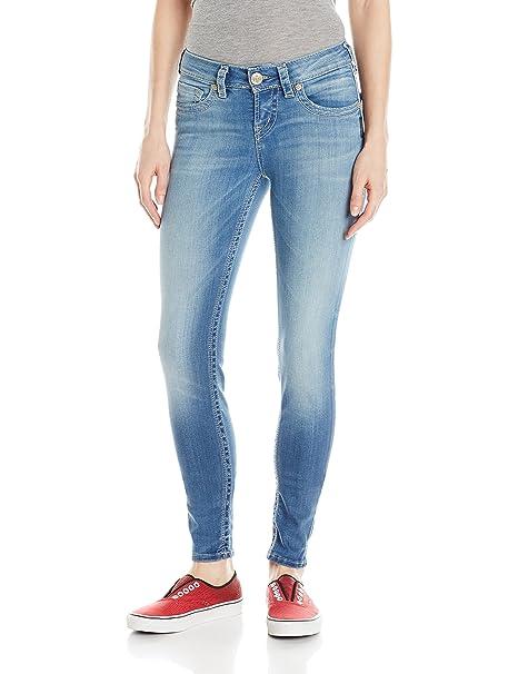 Silver Jeans Vaquero Suki Mid Super Skinny Azul W31L31 amazon el-azul Vintage sLEao2lYD