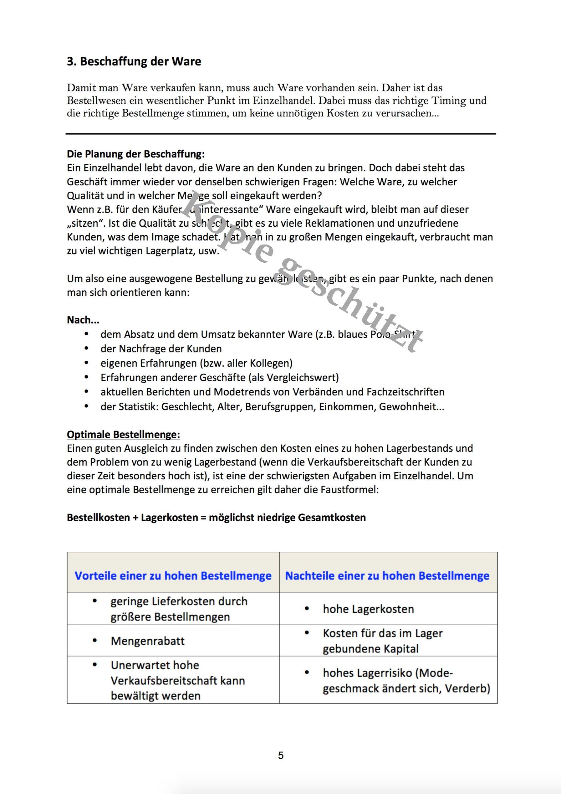 Berichtsheft Vorlage Einzelhandel | marlpoint