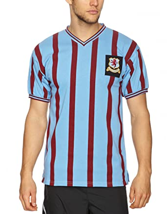 322fed8c5 Score Draw Official Retro Aston Villa Mens 1957 FA Cup Final Shirt -  XX-Large