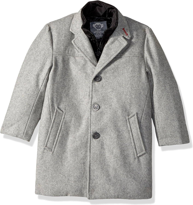 Appaman Boys' City Overcoat, Stone Grey, 2T: Clothing