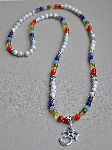 Amazon.com: 108 Mala, Yoga Necklace, wrap gemstone bracelet ...