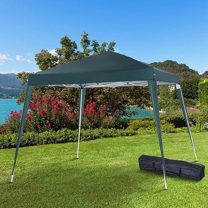 Outsunny Carpa Cenador Plegable para Exterior para Jardín Camping ...