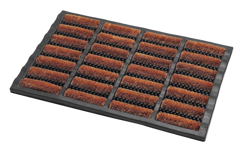 Addis Terrington Door Mat with Heavy Duty Rubber Tuff 100 Percent Bristle, Natural Coir, 60 x 40 cm 517492