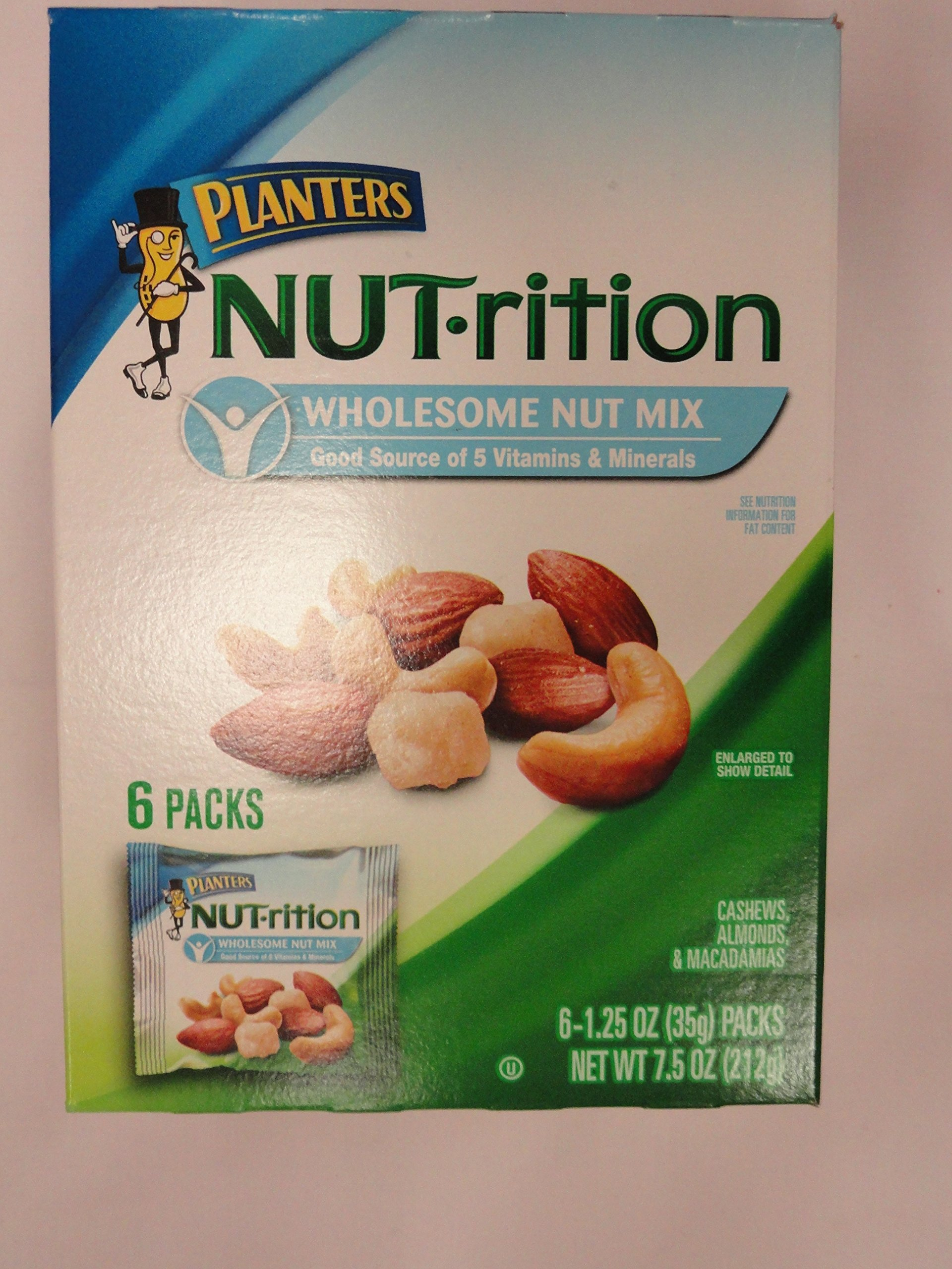 Planters, Nut-rition, Wholesome Nut Mix, 6 Count, 7.5oz Box (Pack of 3)