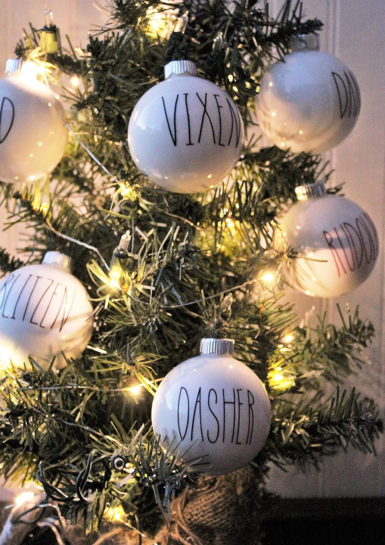 Amazon Com Farmhouse Christmas Tree Reindeer Ornament Set Buffalo Check Holiday Decor Black White Rustic Decorations Handmade