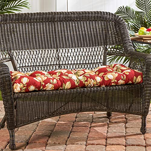 South Pine Porch AM4805-ROMA Roma Floral 44-inch Outdoor Swing/Bench Cushion