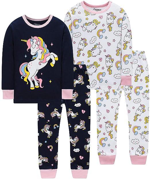 Amazon.com: Pajamas para bebé, niñas, pijama de caballo, 100 ...