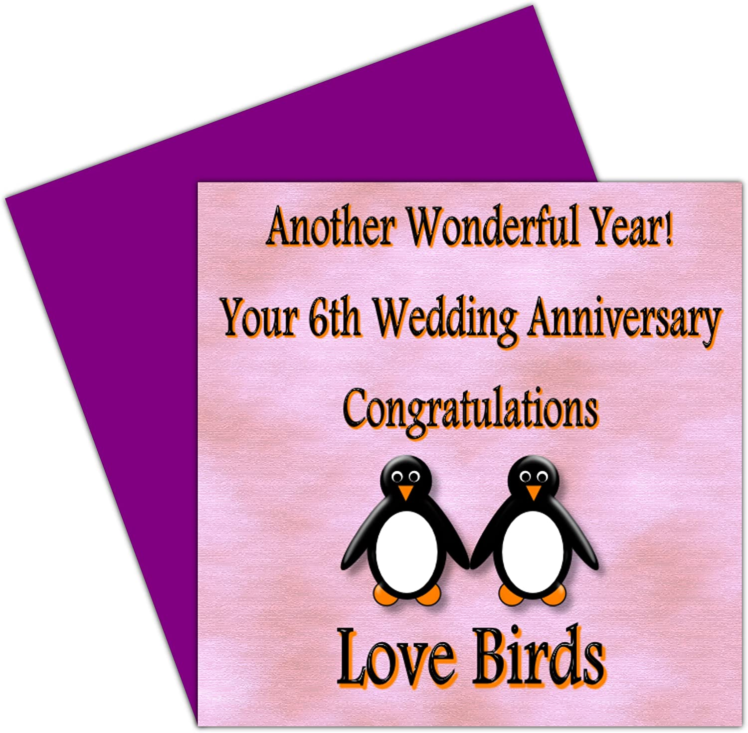On Your 4th Wedding Anniversary Card - 4 Years – Iron Anniversary - Rosie  Posie Penguin Design for Family & Friends