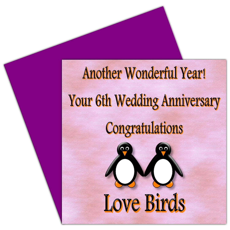 On Your 6th Wedding Anniversary Card - 6 Years - Iron Anniversary ...