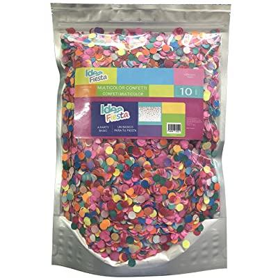 Idea Fiesta Multicolor Confetti Toss - 10 Oz. of Paper Confetti in a Stand Pouch Bag - Mexican Confetti - for All Kind of Celebrations and Parties: Toys & Games