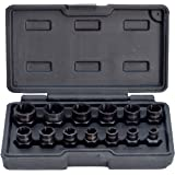 Segomo Tools 13 Piece Lug Nut and Bolt Extractor Removal Metric and SAE Socket Tool Set 8-19mm