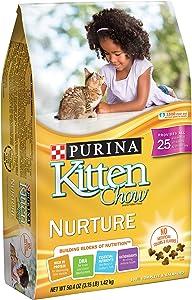Purina Kitten Chow Dry Kitten Food, Nurture, 3.15 Pound Bag