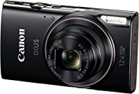 Canon IXUS 285 HS Digital Camera (Black) with 16GB Memory Card, USB Cable & Camera Case Inside