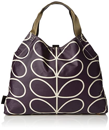 Orla Kiely Womens Matt Laminated Linear Stem Print Large Holdall Messenger  Bag Multicolour (Orchid) 74e96bb504