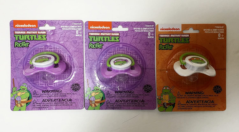 Amazon.com : Teenage Mutant Ninja Turtles Pacifiers (Pack of ...