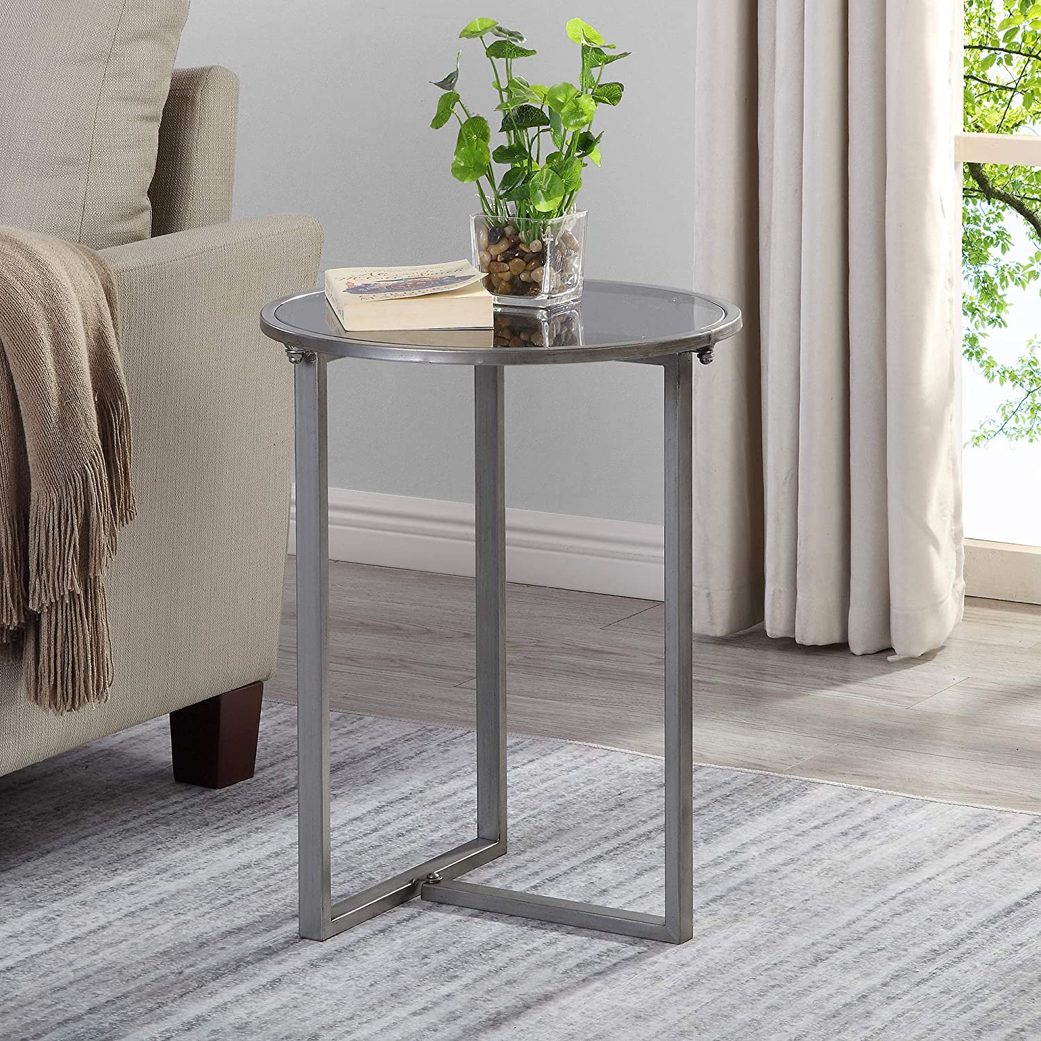 - Amazon.com: FirsTime & Co. Hayden Industrial Accent Table, 21.5