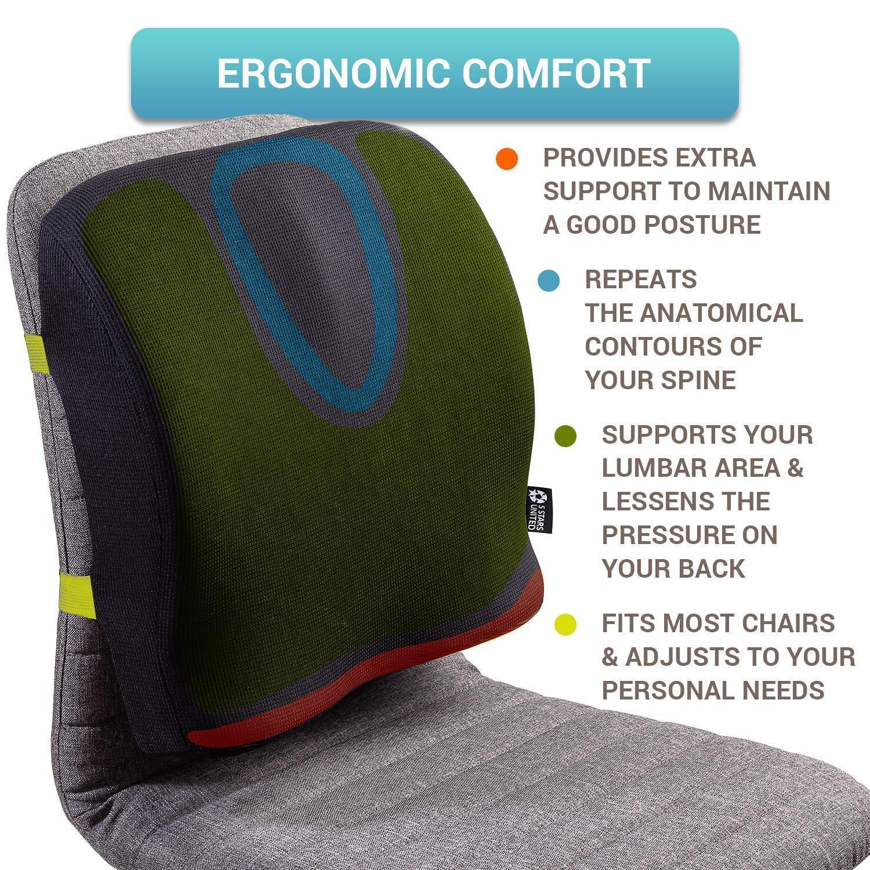 Amazon.com: Soporte lumbar para silla de oficina – Almohada ...