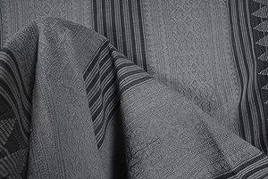 Tribal Naga blanket Hmong gray black tapestry ethnic home decor handwoven cotton throw striped boho fabric distress India textile XC7