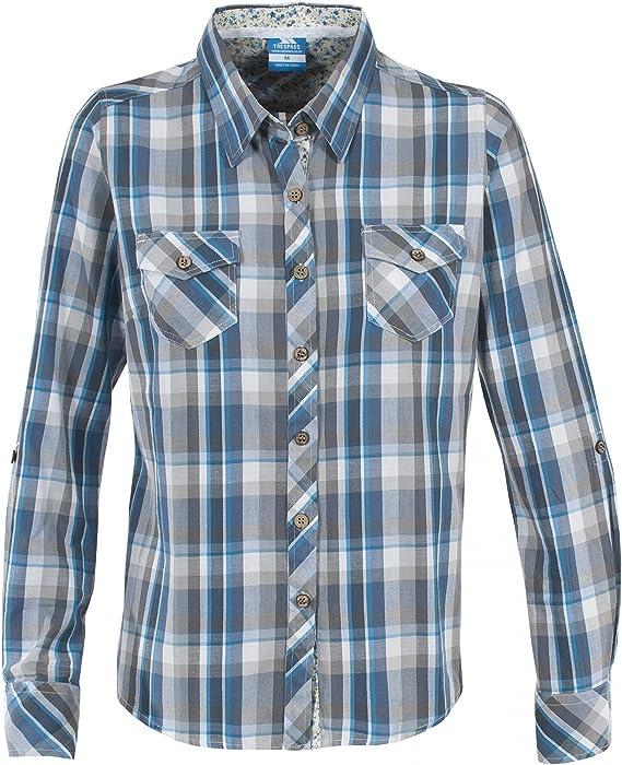 Trespass - Camisa de manga larga modelo Crystola para mujer (Extra Grande (XL)/Azul): Amazon.es: Ropa y accesorios