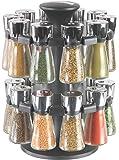 Cole & Mason CH100759 Carrousel 20 Flacons avec Épice Chromé/Transparent 23 x 23 x 30 cm