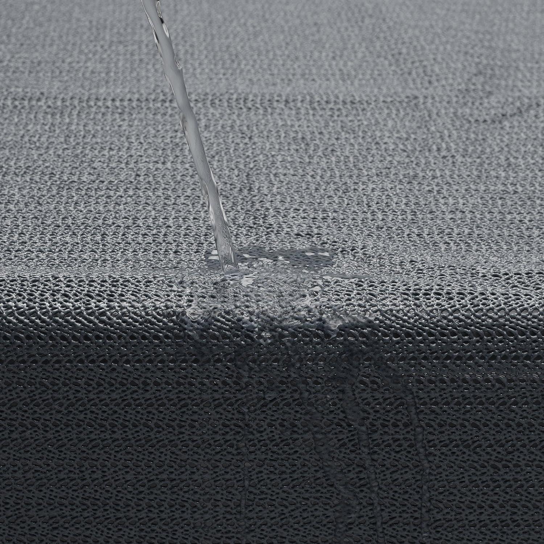 Beautissu PVC Mantel Mesa jard/ín Rectangular Lena 130x160 cm Azul repele el Agua Resistente al Mal Tiempo balc/ón Camping