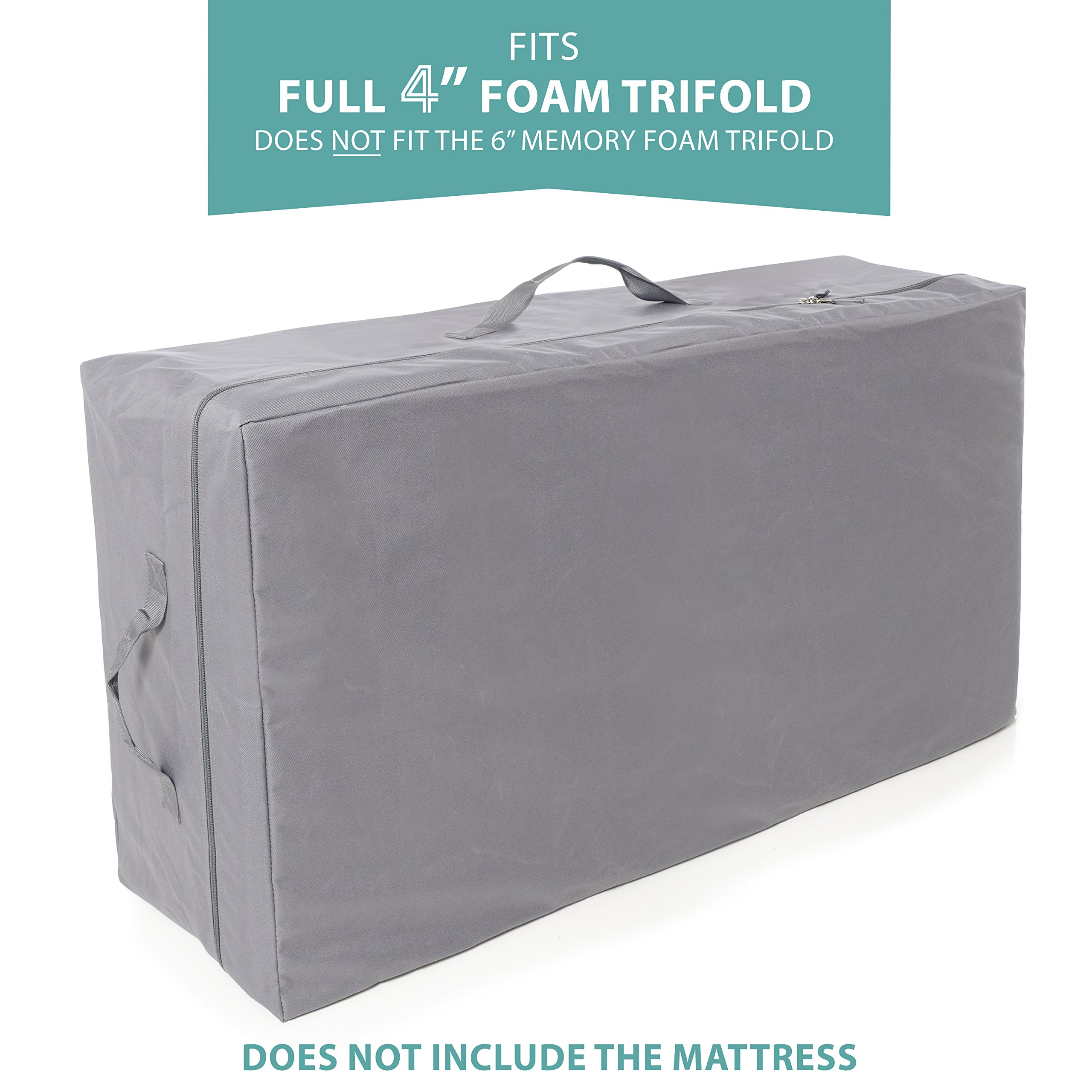 Carry Case for Milliard 4 inch Full Tri-Fold Mattress (Does Not Fit 6 inch) by Milliard