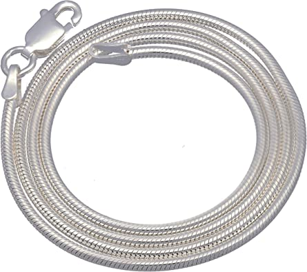 14-36 Honolulu Jewelry Company Sterling Silver 1.9mm Snake Chain Necklace