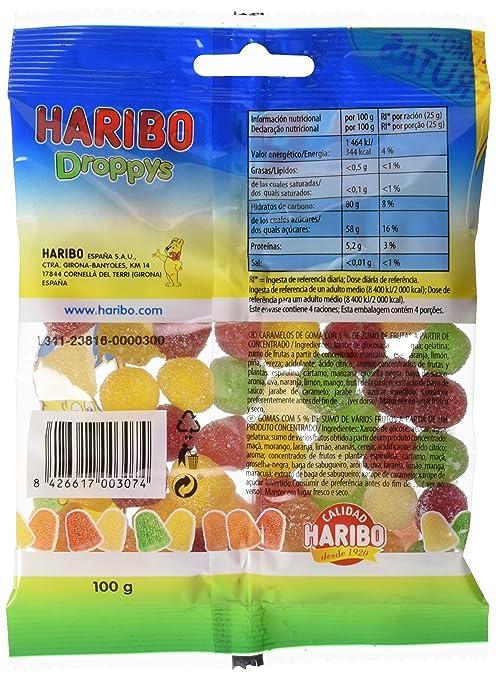 Haribo - Droppys - Caramelos de goma - 100 g: Amazon.es: Alimentación y bebidas