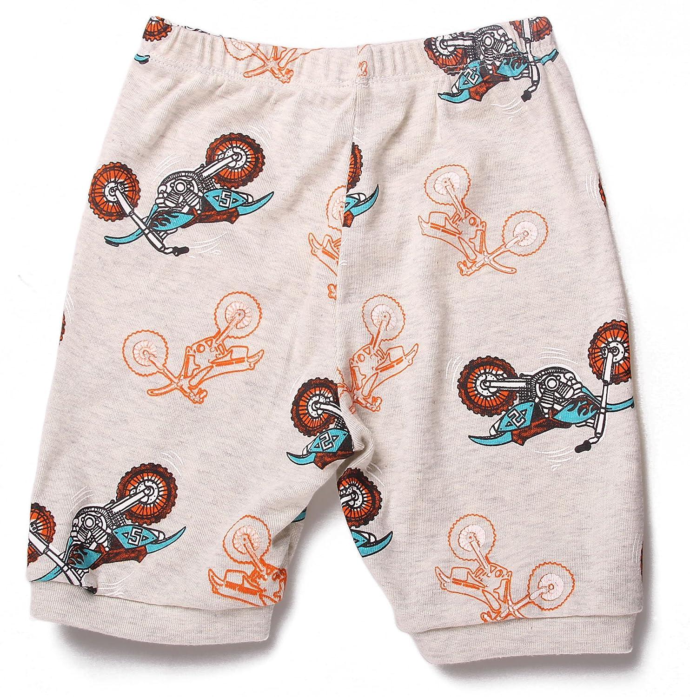 Babytree Toddler Boys 2 Pieces Motorcycle Pajamas Shorts Clothing Sets