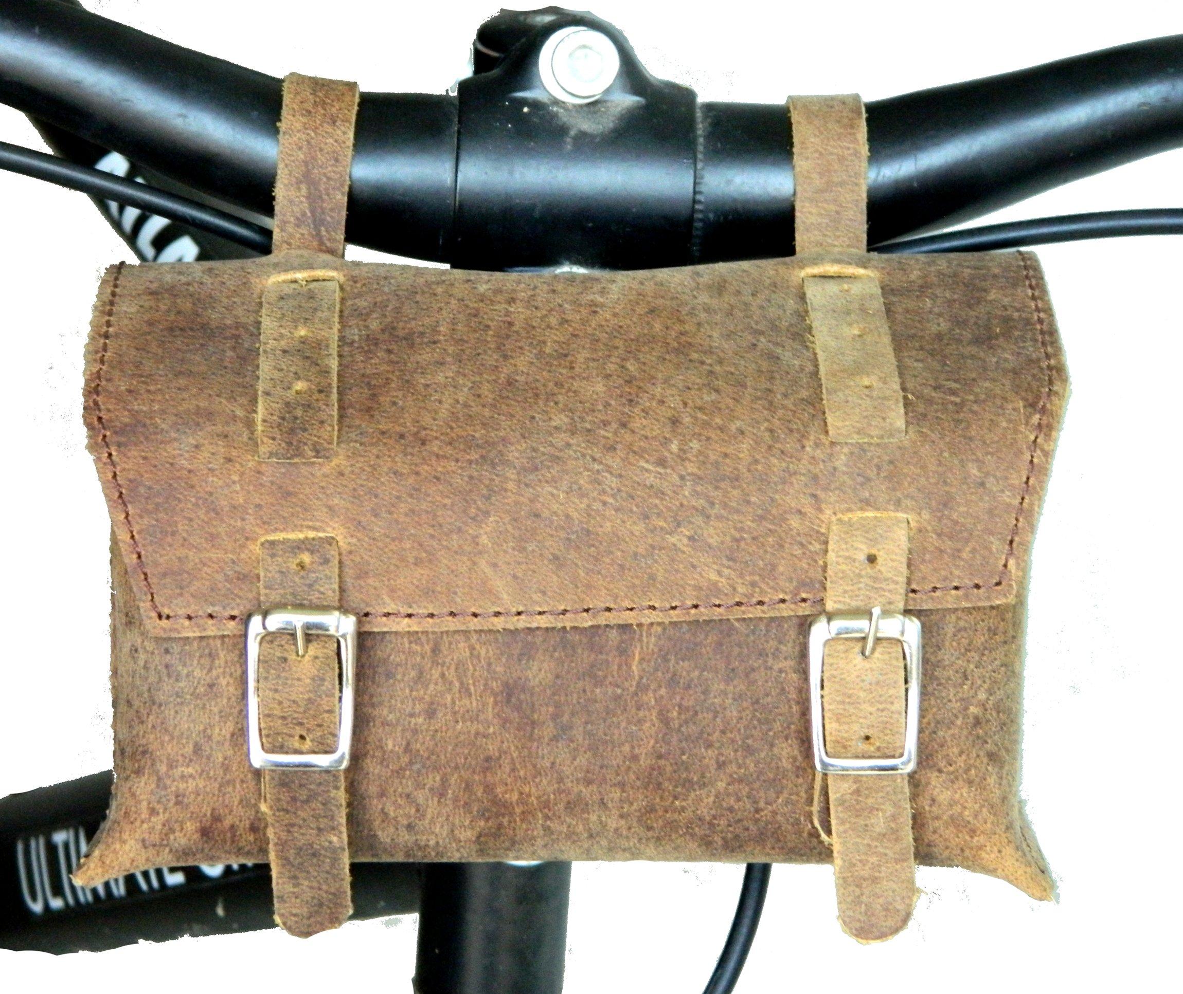 Herte Genuine Leather Bicycle Saddle Box Bag Utility Vintage Bag br by Herte (Image #4)