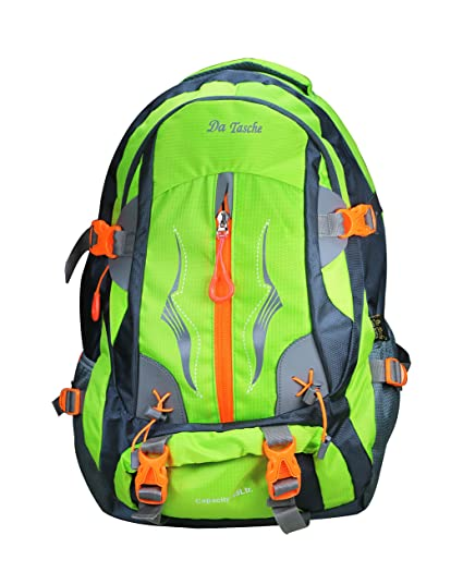 c2bf2f50f5 Da Tasche Polo 45L Neon Green Rucksack Backpack  Amazon.in  Bags ...