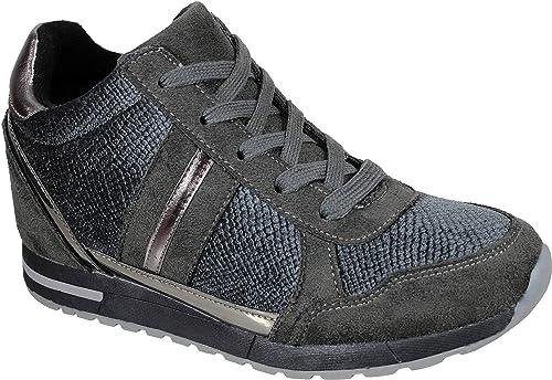 WUAPAS-17593 Zapatillas de Cuña para Mujer: Amazon.es: Zapatos y complementos
