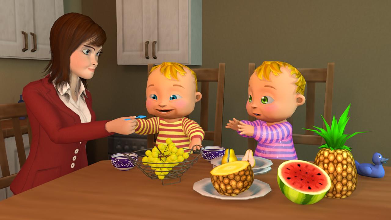 simulador de madre 3D: simulador de bebé virtual juegos de