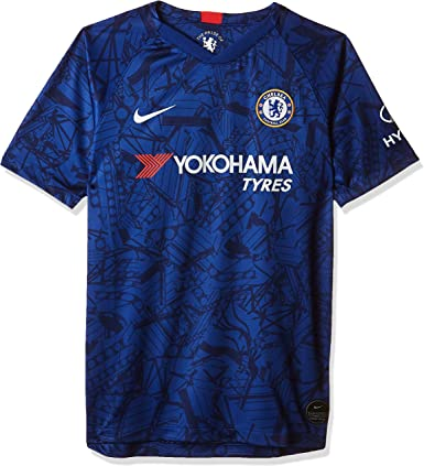 tapa reservorio blusa  Nike Youth Chelsea 2019/20 Home Soccer Jersey : Clothing - Amazon.com