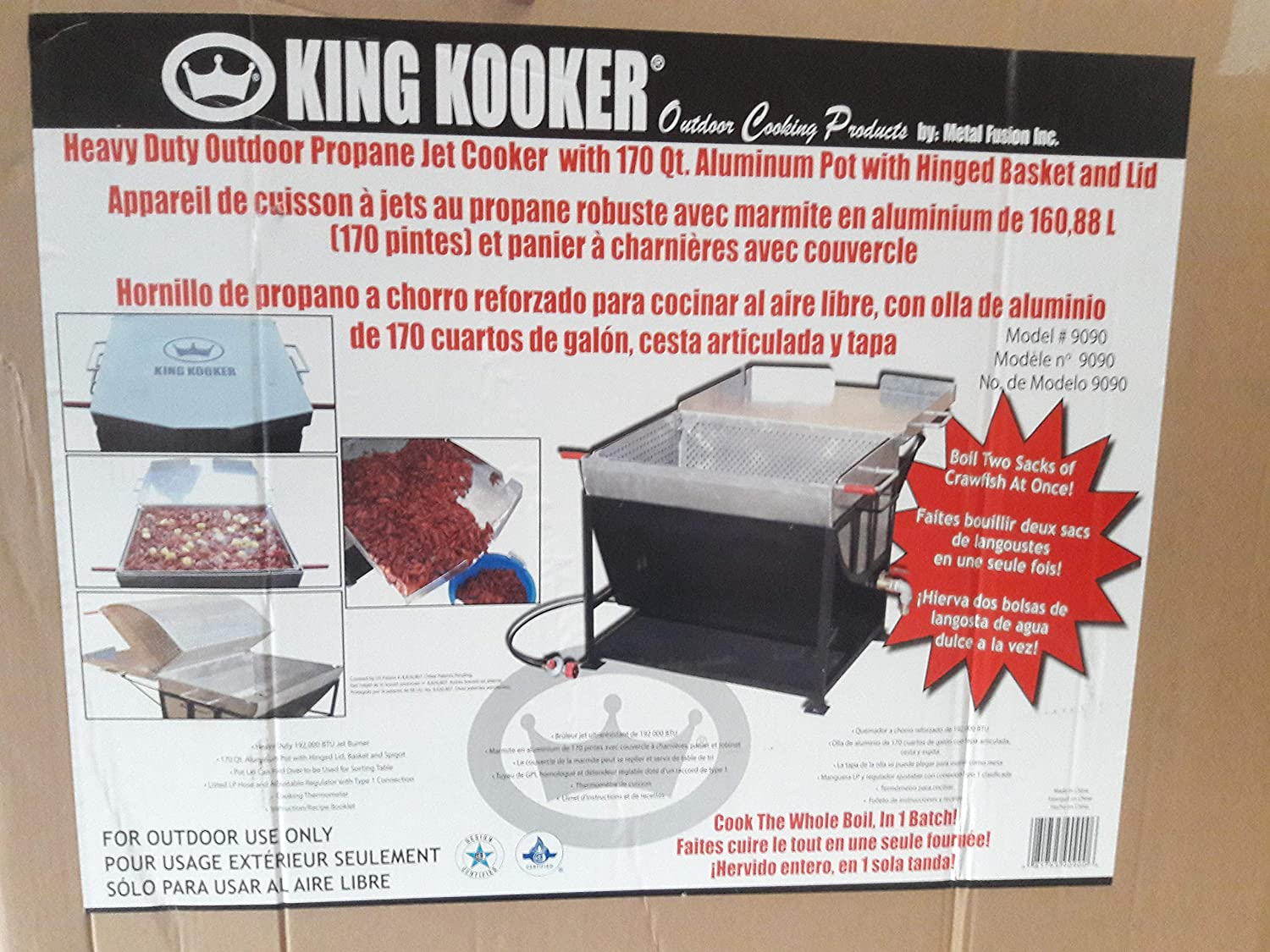 King Kooker 9090 170 Qt. Outdoor Propane Jet Cooker, One Size, Multi
