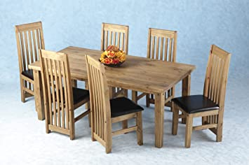 Seconique TORTILLA DINING SET SIX LONG BACK CHAIRS