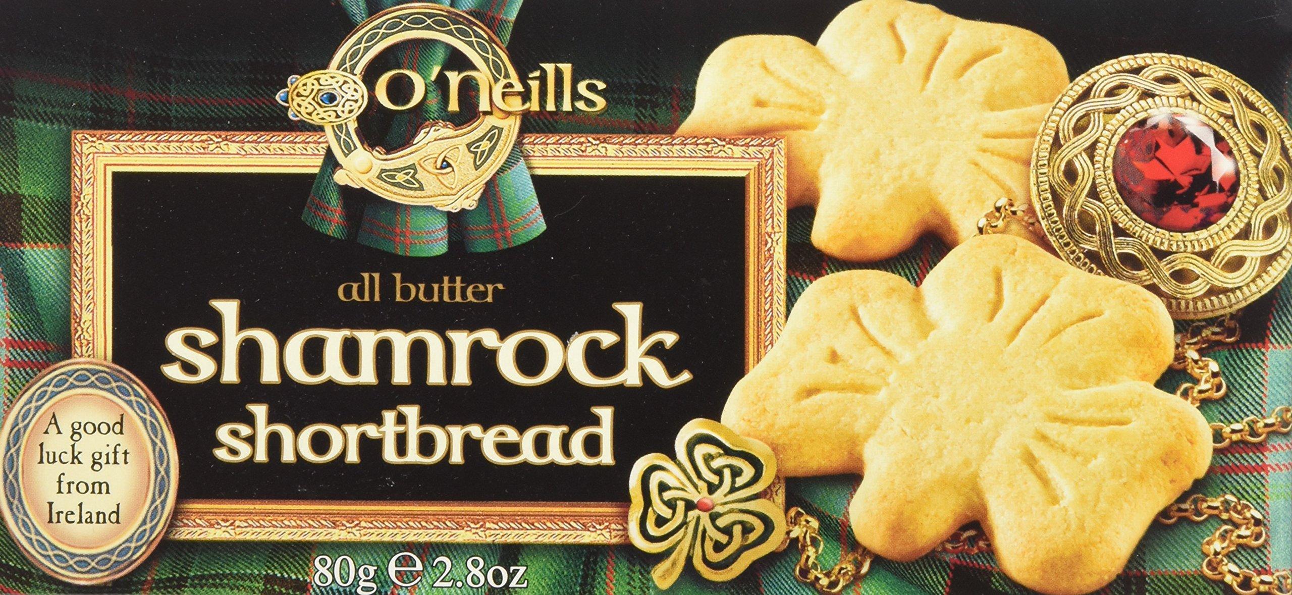 O'Neills Shamrock Shortbread Cookies, 2.8 Ounce