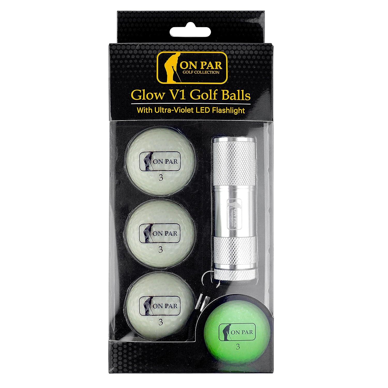 On Par Glow V1 Golf Balls with Ultra-Violet LED Torch - Glow in the Dark  Golf Balls
