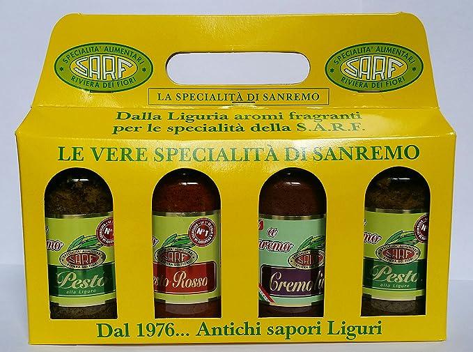 pesto y salsas italianas - Cuarteto de sabores italianos- Pesto de albahaca - Pesto -