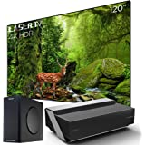 Hisense 120L10E 120-Inch 4K UHD Smart Laser Projector TV with Screen and 2.1 Audio System (2019)