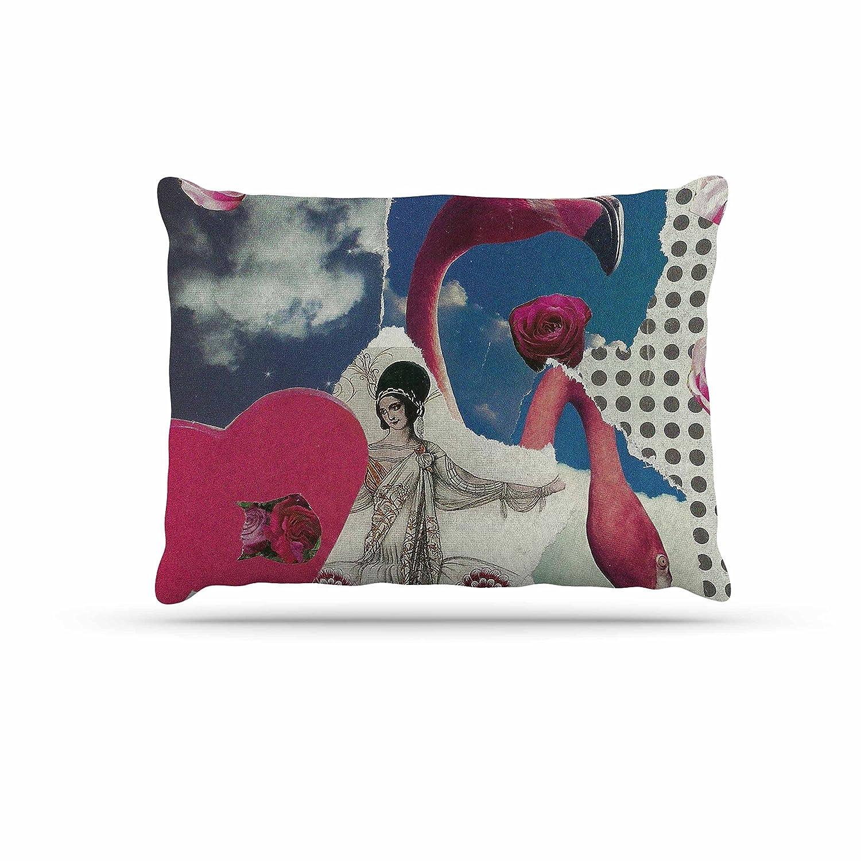 KESS InHouse Judith Loske Happy Aubergines bluee Purple Dog Bed, 50  x 40