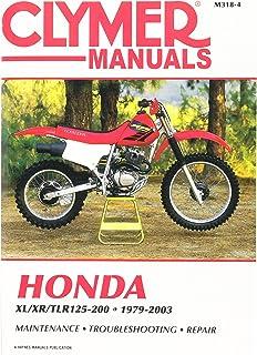 amazon com clymer repair manual for honda xl xr 200 250 350 78 00 rh amazon com Honda XL 350 Review 1979 Honda XL 100