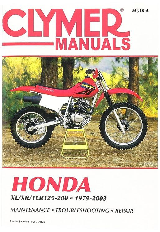 amazon com clymer m3184 repair manual manufacturer automotive rh amazon com honda xl 200 r service manual Honda XR 200