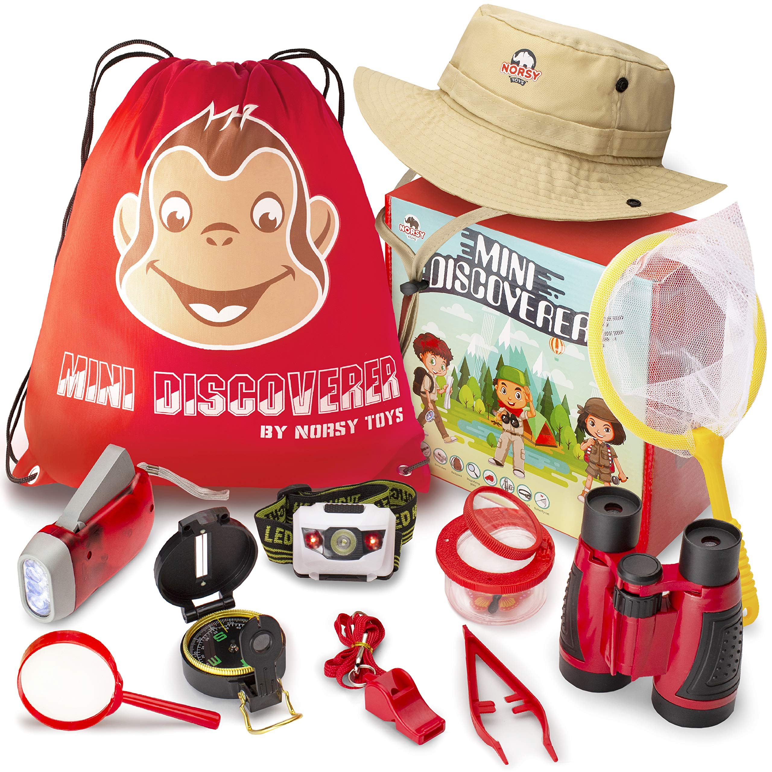 Norsy Toys - Kids Explorer Kit - Kids Binoculars | Outdoor Exploration Set for Boys & Girls Age 3-12 year old - Great Gifts for Your Outdoor Lover Grandkids and Nephew's Birthday, Christmas & Hiking by Norsy Toys